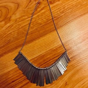 Sliver statement necklace